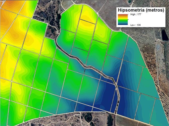 Mapas Representativas dos índices de vegetação e fisiografia hipsometria