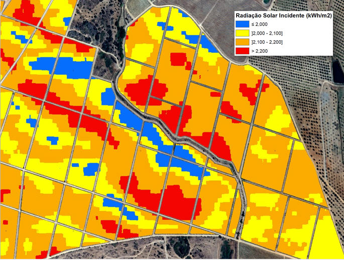 Mapas Representativas dos índices de vegetação e fisiografia radiação solar incidente