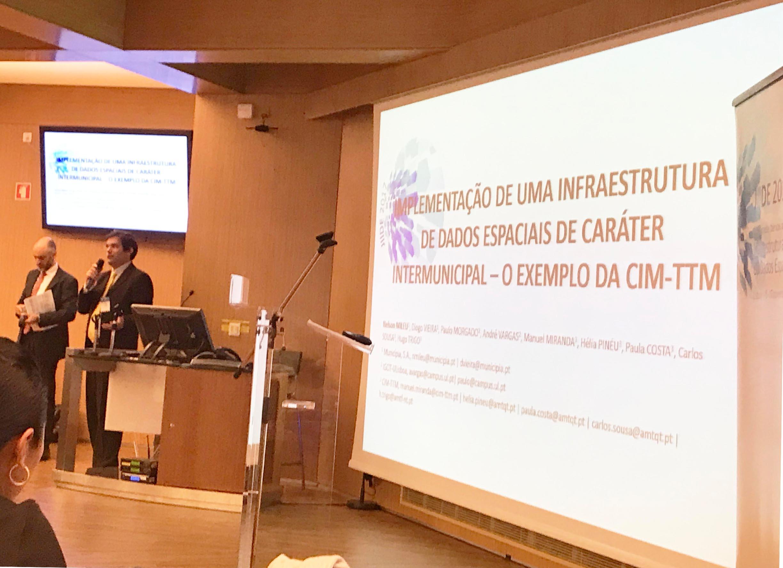"""Municípia a apresentar o tema """"Implementação de uma infraestrutura de dados espaciais de caracter intermunicipal"""" hoje, nas Jornadas Ibéricas de Infraestruturas de Dados Espaciais (JIIDE)"""